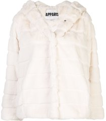 apparis goldie short faux-fur coat - white