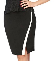 envío gratis falda fergie negro para mujer croydon