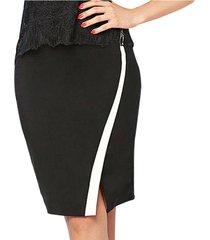 falda fergie negro para mujer croydon