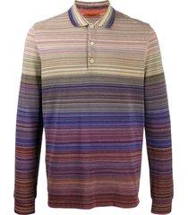 missoni striped casual sweatshirt - purple