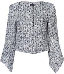 casaco le lis blanc olga alfaiataria tricot cinza mescla feminino (mescla, 50)