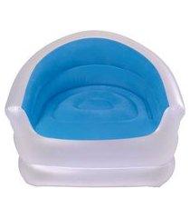 poltrona inflável - piscina e jardim - lounge - azul 6037211