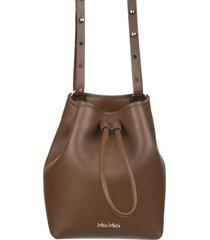 buckepv bucket bag in brown leather