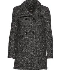 onlsophia wool boucle coat cc otw yllerock rock grå only