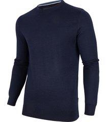 cavallaro cavallaro pullover merino wol ronde hals dark blue