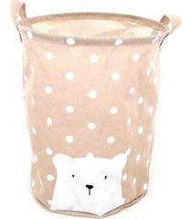 cesto organizador le baby bear para roupas e brinquedos rosa