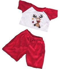 reindeer pjs pyjamas teddy bear outfit clothes to fit 8 to 10 inch (20cm) bear b