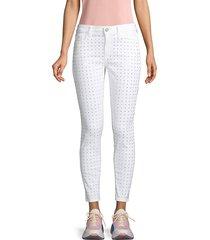 siwy women's lauren rhinestone embellished skinny jeans - white - size 23 (00)