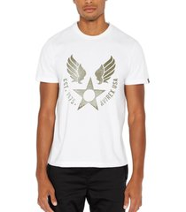 avirex men's logo star graphic t-shirt