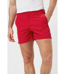 orlebar brown men's setter swim shorts - rescue red - w36