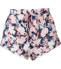 gilda & pearl jardin printed shorts - pink