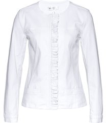 giacca di jeans con ruches (bianco) - bpc selection