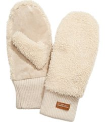 koolaburra by ugg faux-shearling mittens with knit cuff
