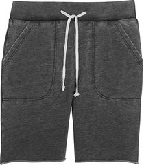 alternative apparel men's victory modern fit burnout french terry shorts charcoal - size: small