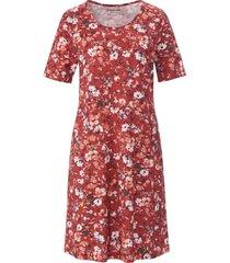 jerseyjurk 100% katoen bloemenprint van green cotton rood