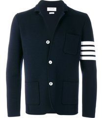thom browne 4-bar merino sport coat - blue