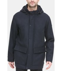 dkny men's stadium coat with removable hood, created for macy's