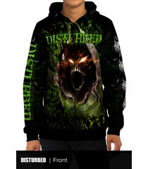 disturbed modern metal rock band all over print zipper hoodie
