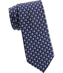 panda playing tennis silk tie
