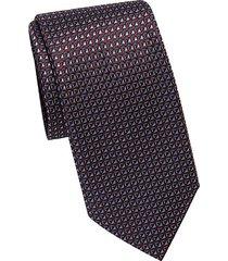 geo diamond silk tie