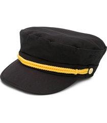mini rodini baker boy hat - black
