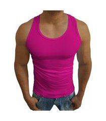 camiseta masculino estilo americana regata tank07 sjons pink