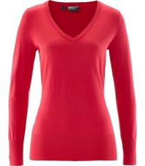 maglione con scollo a v (rosso) - bpc bonprix collection