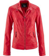 giacca in similpelle stile biker (rosso) - bpc bonprix collection