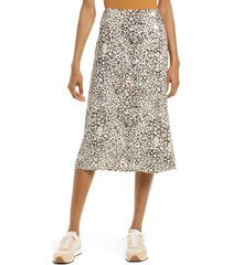 madewell daisy groove side button midi skirt, size 6 in aztec at nordstrom