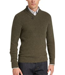 joseph abboud evergreen button shawl sweater
