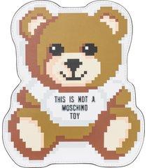 pochette a mano donna in pelle pixel teddy bear