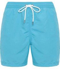 short masculino praia liso - azul