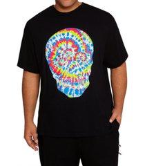 mvp collections by mo vaughn productions men's big tall tie-dye rhinestone skull print t-shirt