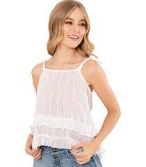 blusa antonella blanco ragged pf11112193