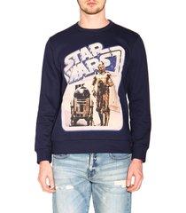 etro sweatshirt etro x star wars crew neck sweatshirt with maxi film print