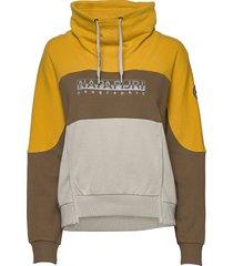 bhell w hoodie trui geel napapijri