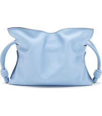 loewe mini flamenco leather clutch - blue