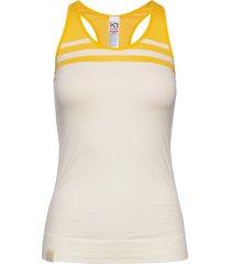 humlesnurr top t-shirts & tops sleeveless creme kari traa