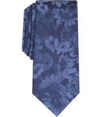 bar iii men's glacier skinny floral tie, created for macy's