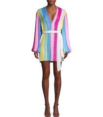 retrofête women's gabrielle unicorn robe dress - green - size s