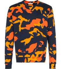 valentino camouflage print sweatshirt - blue