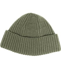 brunello cucinelli ribbed beanie - green