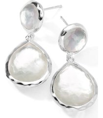 ippolita semiprecious teardrop earrings in silver/mother of pearl at nordstrom