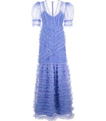 alice mccall tokyo sky evening dress - blue