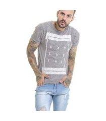 camiseta exclusive slim fit flame m/c offert masculina