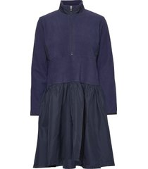 hot fleece dasma jurk knielengte blauw mads nørgaard