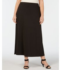 kasper plus size a-line maxi skirt