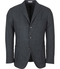 deconstructed jacket with three buttons