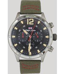 relógio cronógrafo philiph london masculino - pl80073622 grafite