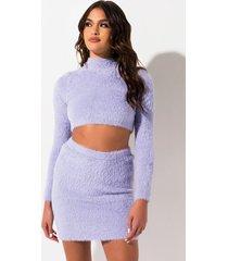 akira sunny fuzzy knit mini skirt
